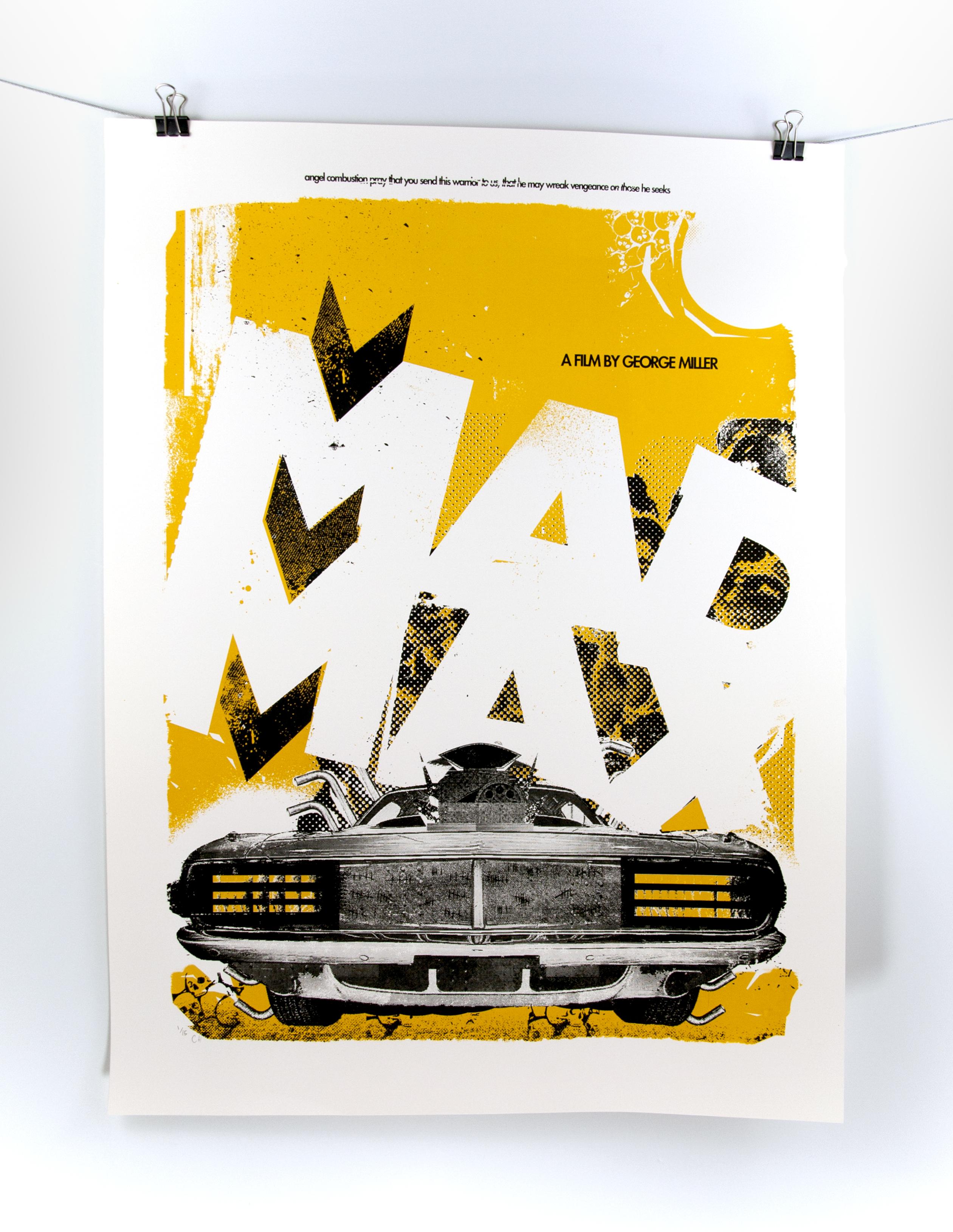 Mad Max Silk Screen Poster