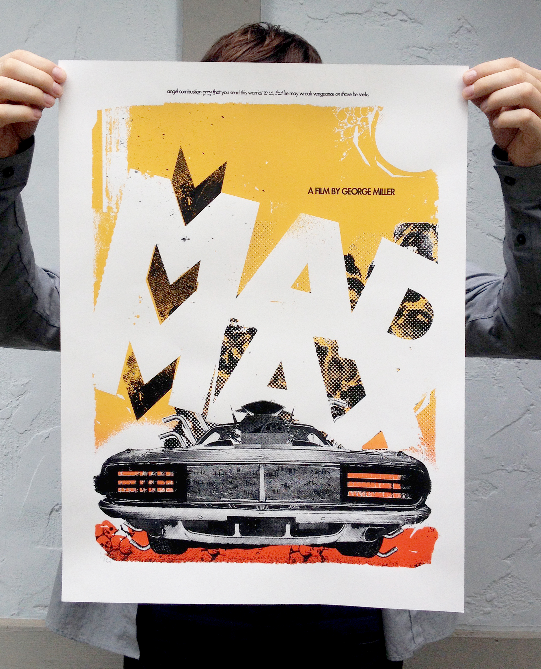 Mad Max Silk Screen Poster
