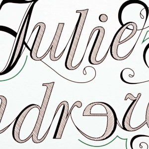 Julie Andrews Typographic Poster