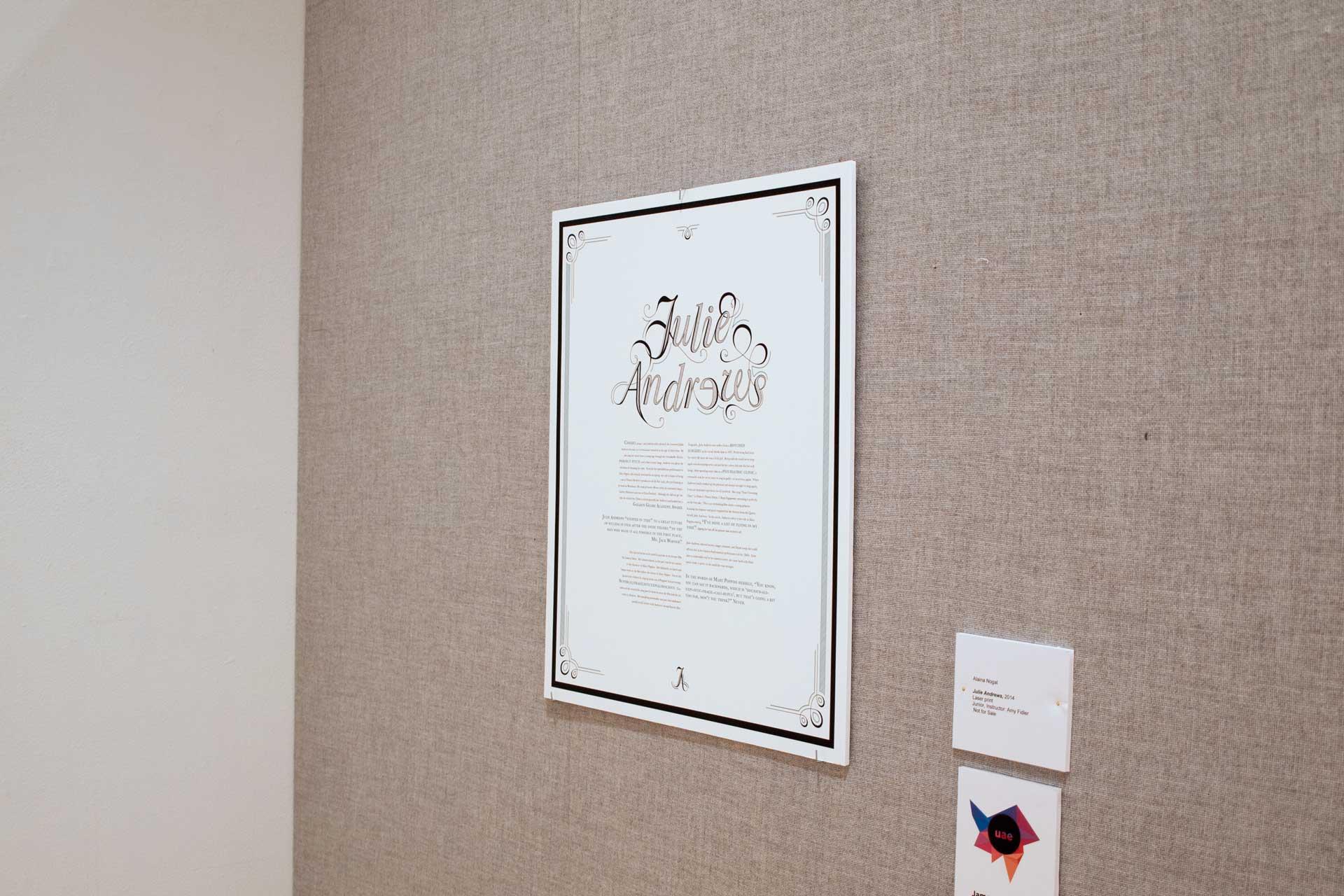 Julie Andrews Typographic Poster