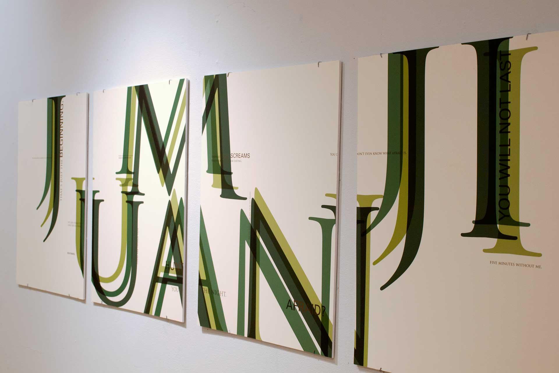 Jumanji Typopgraphic Poster