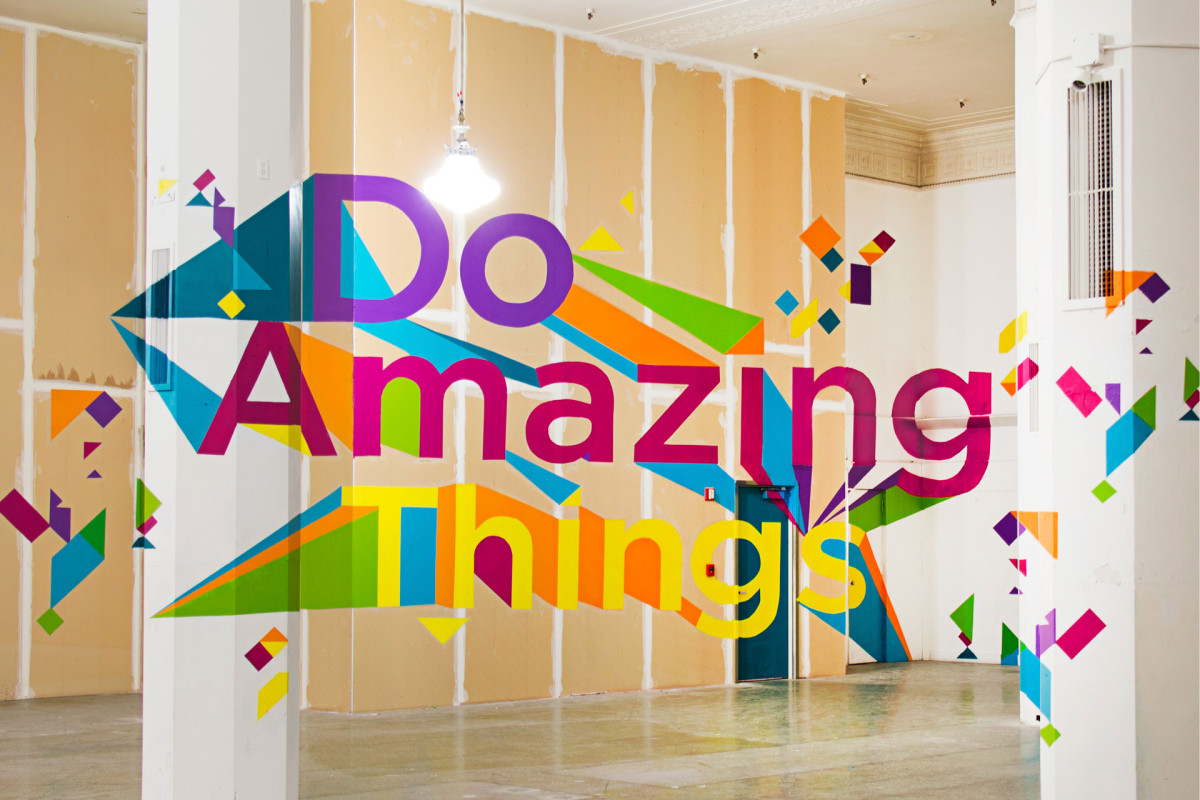 Do Amazing Things Mural and Artomatic Wayfinding