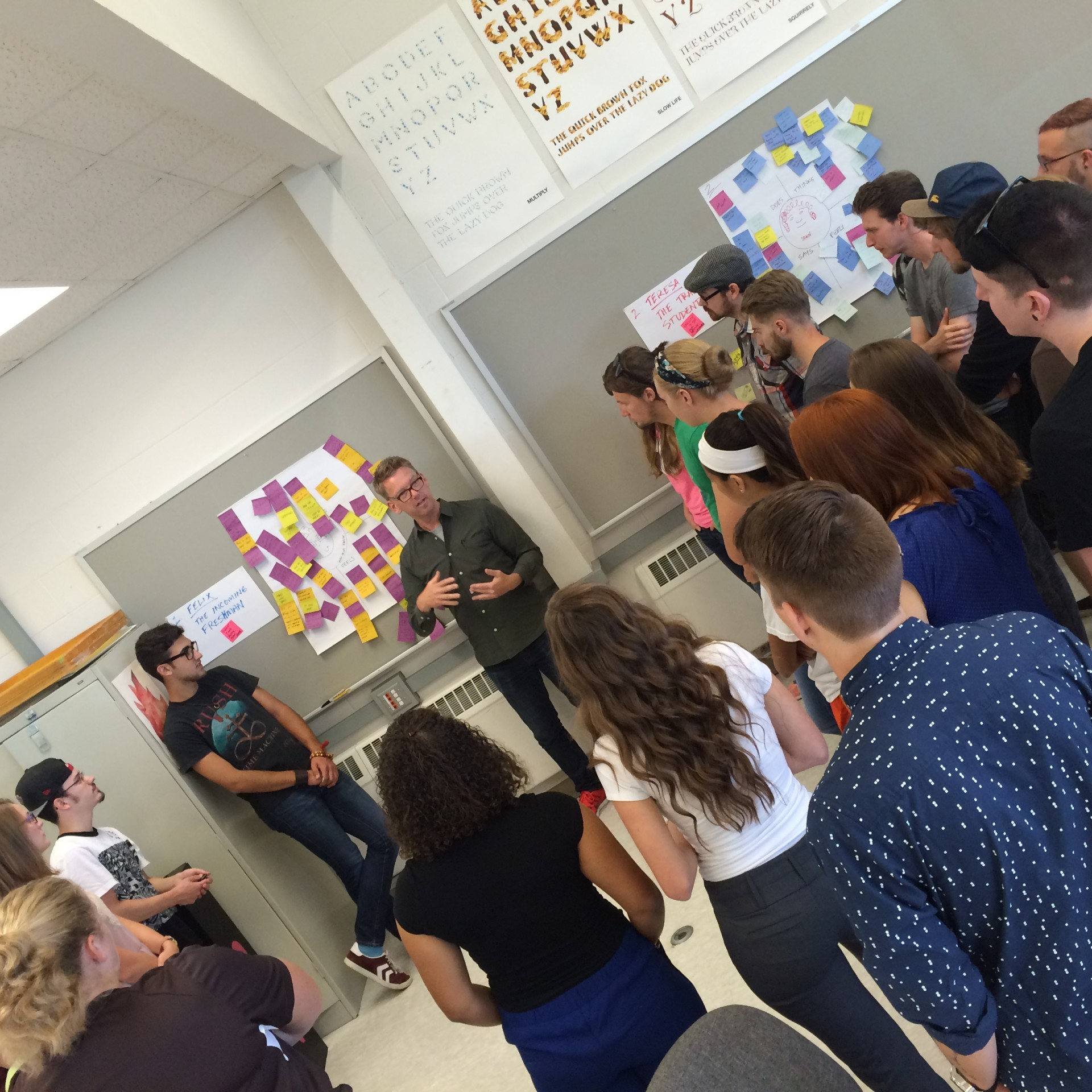 Doug Powell, Leader of IBM's Design Revolution hosts BGSUGD Design Workshop with Undergrads