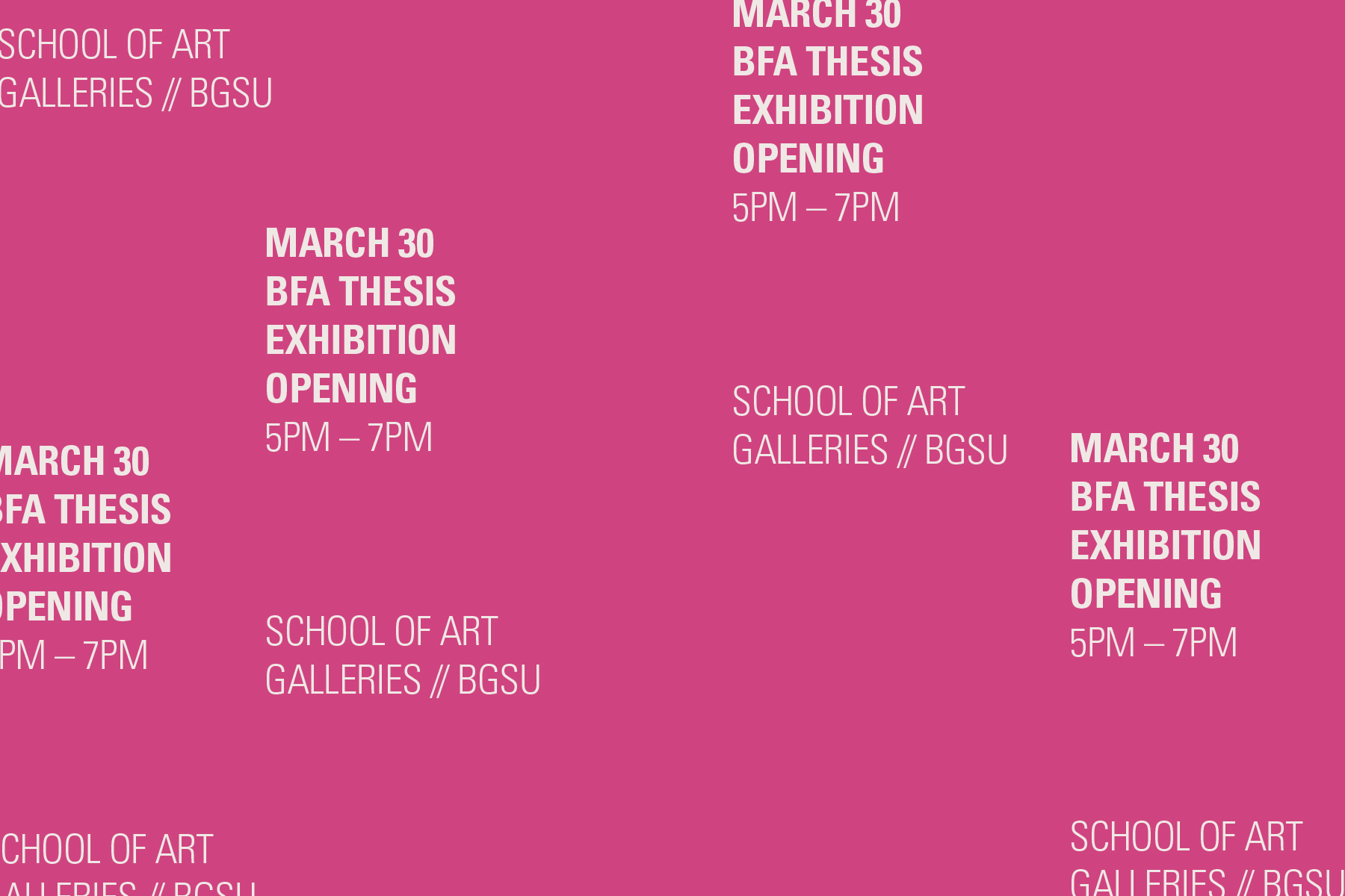 BFA Senior Thesis Exhibition + Opening