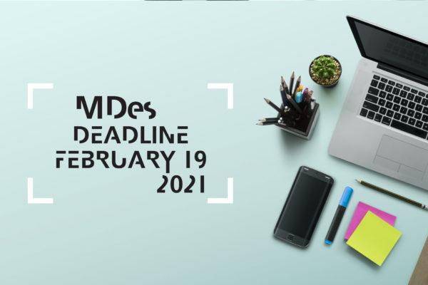 MDes Application Deadline