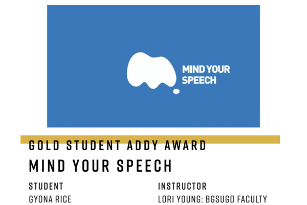 BGSUGD students take home a Mosaic Award, Gold, and Silver at the 2021 Addy Awards!